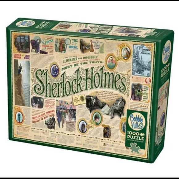 Cobble Hill Sherlock Holmes 1000 piece puzzle NEW